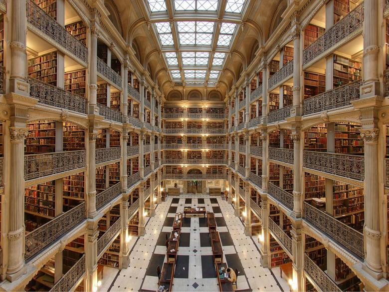 george-peabody-library-baltimore-maryland-amerika